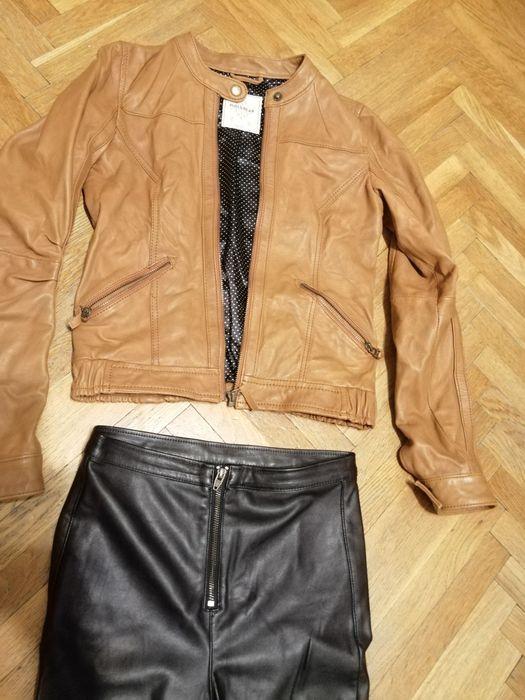 Sexy zestaw ramoneska, kurtka i spodnie ala skóra. Xs, 34 Olsztyn - image 1