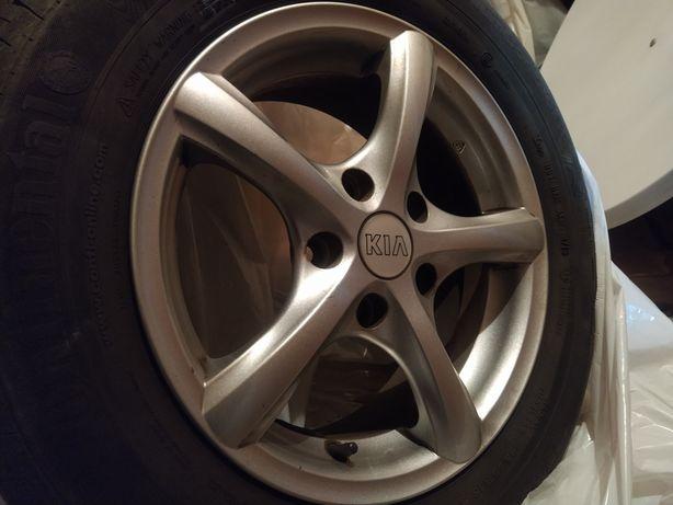 Aluminiowe koła 15'' 5x114,3 Continental 195/65 (KIA, Nissan, Hyundai)
