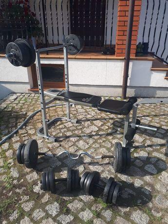 Siłownia domowa 74kg obciążenia zestaw do ćwiczeń