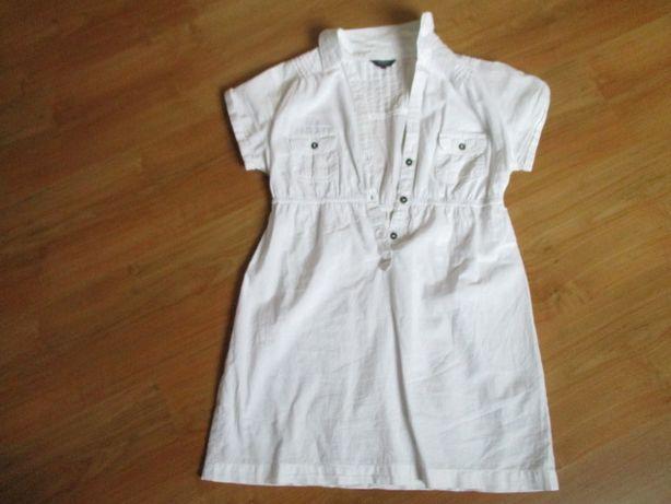 Biała letnia sukienka dziewczęca