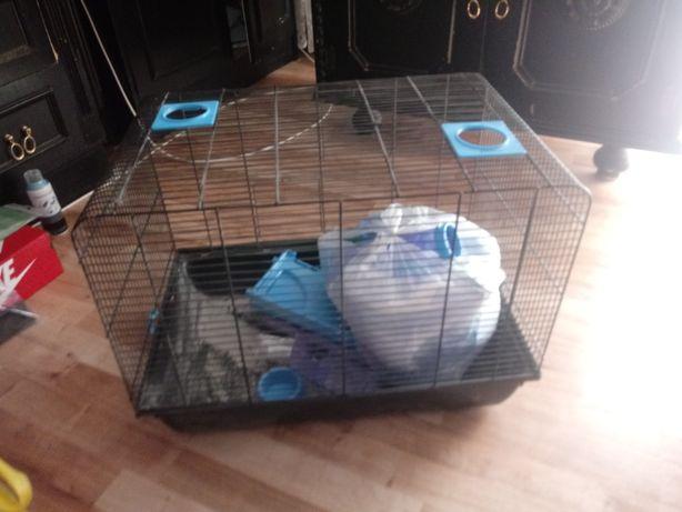 Mega duza klatka dla chomika myszy i innych gryzoni z wyposazeniem