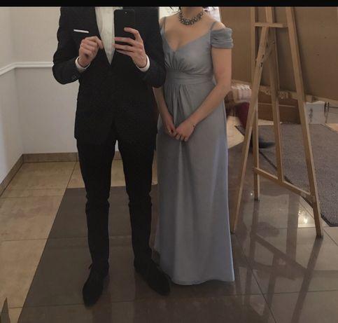 Długa sukienka szara/gołębia