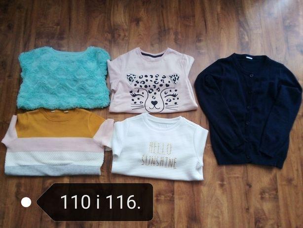 Bluzy i sweterki 110 i 116. Jak nowe!