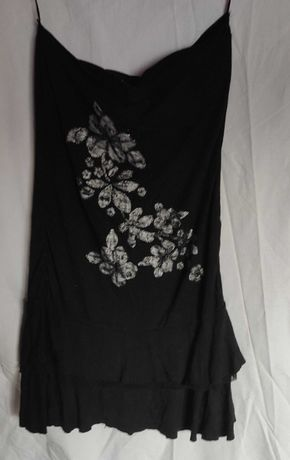 czarna sukienka-tunika MK
