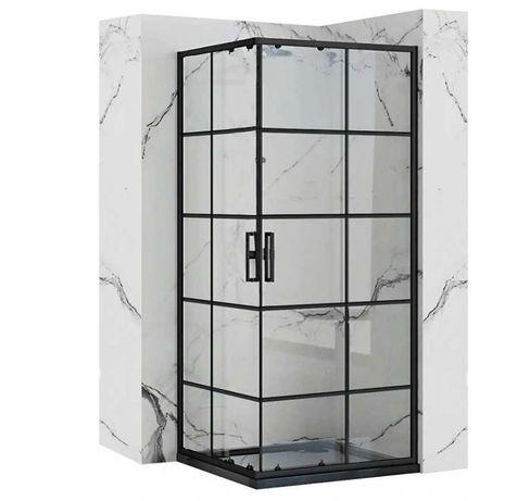 Kabina prysznicowa CZARNA rozsuwana CONCEPT Rea 80x80 / 90x90 /80x100