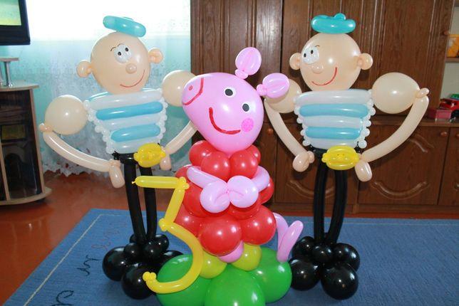 Арки з кульок та інші фігурки букети
