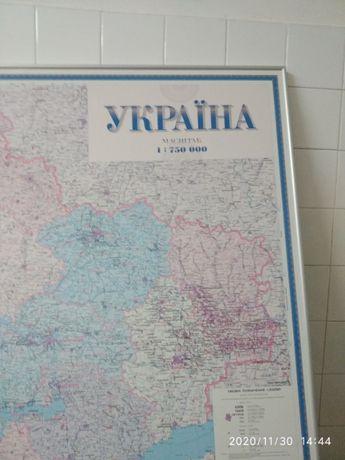 Адміністративно територіальна карта України 1:750 000