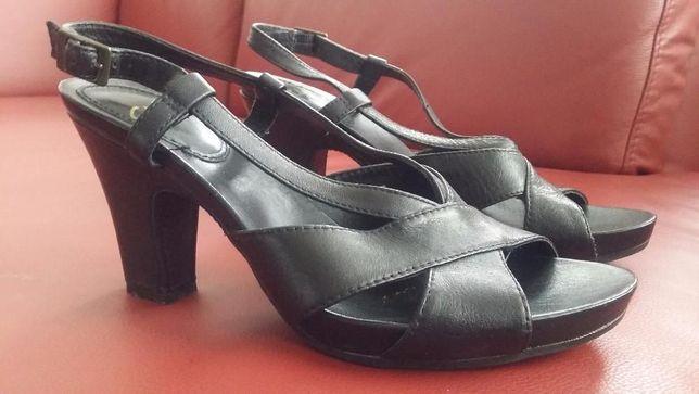 Buty sandały ecco na platformie skóra 39 (6) i 40 (6,5) stan idealny