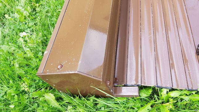 Roleta aluminium szer 100cm wys. 150cm  brąz