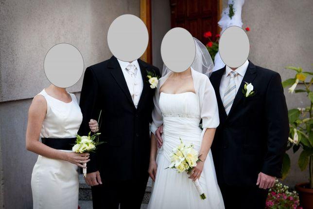 Suknia slubna biala rozmiar 36