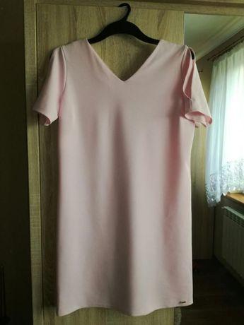 Sukienka 42 pudrowy róż xl