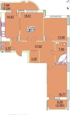 3-я квартира на Черемушках.Новый дом. Лучшая цена квадратных метров.