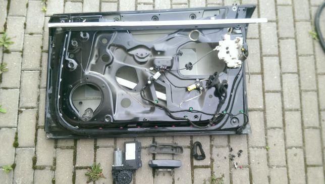 Elementy drzwi silniczek, zamek, listwa, szyba, klamka Audi A4 B7 LZ9Y