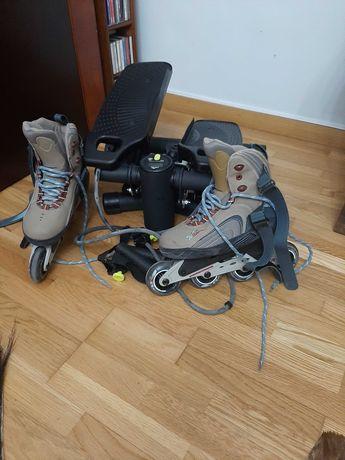 Step e patins em linha como novos
