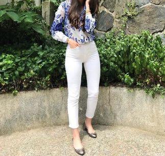 spodnie rurki h&m białe jeanowe skinny obcisłe 36 S