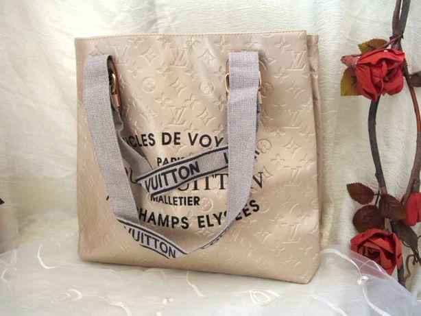 Pojemna jasno złota torba Louis Vuitton hit sezonu