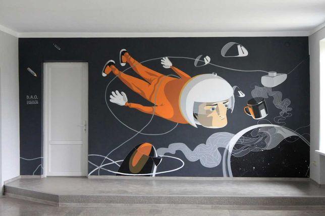 Роспись стен, интерьерная роспись, мурал