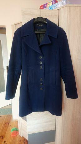 Płaszcz zimowy granatowy, ciemny niebieski, rozmiar 40, L