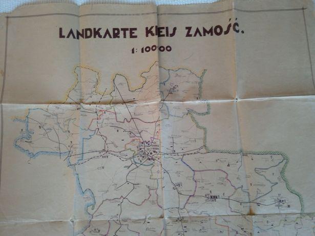 Mapa Zamościa 1940