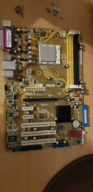 Asus M2N (Rev.1.02G) + amd athlon 64x2 + боксовий кулер.