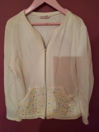 Biała bluza rozpinana 152 Cocodrillo