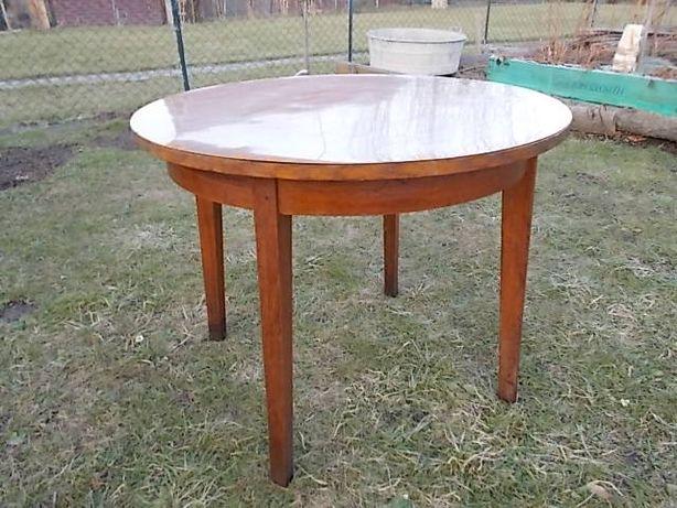 Stary stół okrągły z prl.