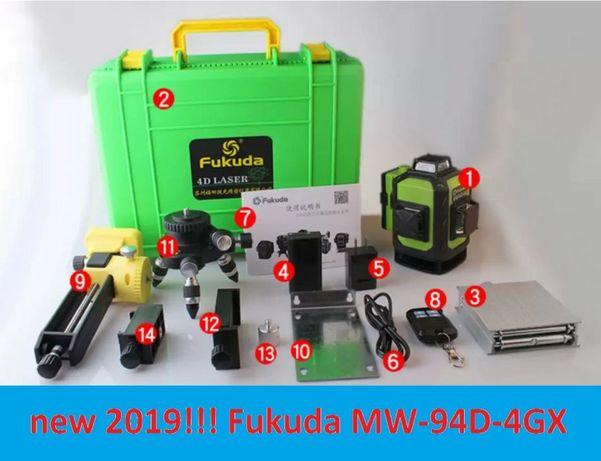 New! 4D Fukuda MW94D-4GX Лазерный уровень нивелир
