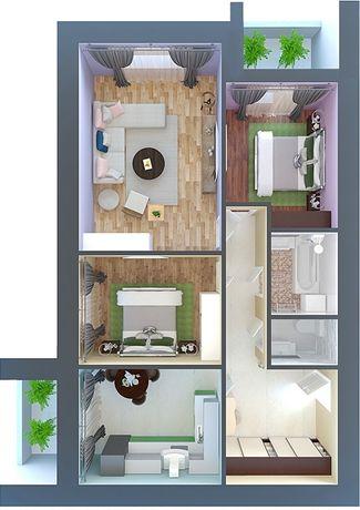 3 комнатная квартира в ЖК «Петровский квартал» 12 линия. Дом построен!