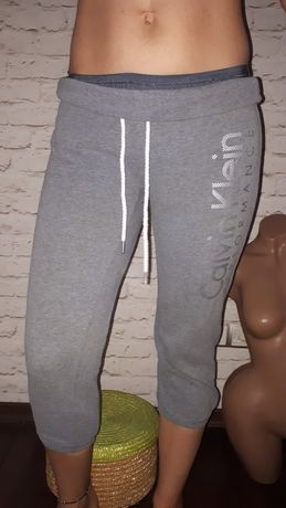 штаны Calvin Klein c начесом оригинал брендовые бриджи фирменные