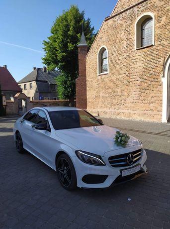 Auto do ślubu - Piękny Mercedes - Benz C200 z pakietem AMG 4Matic
