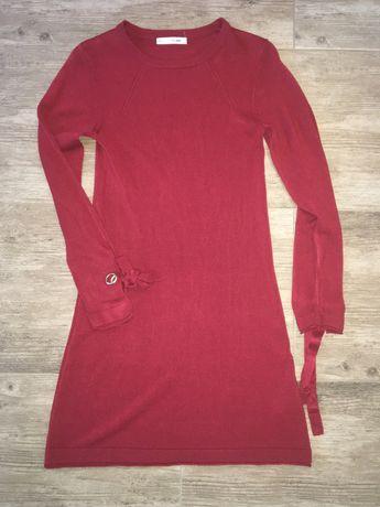 Czerwona sukienka 'sweterkowa'