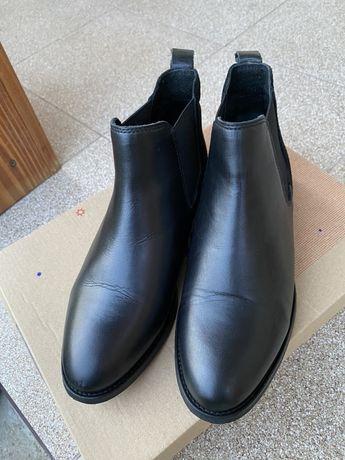 Черевички шкіряні ботинки кожание