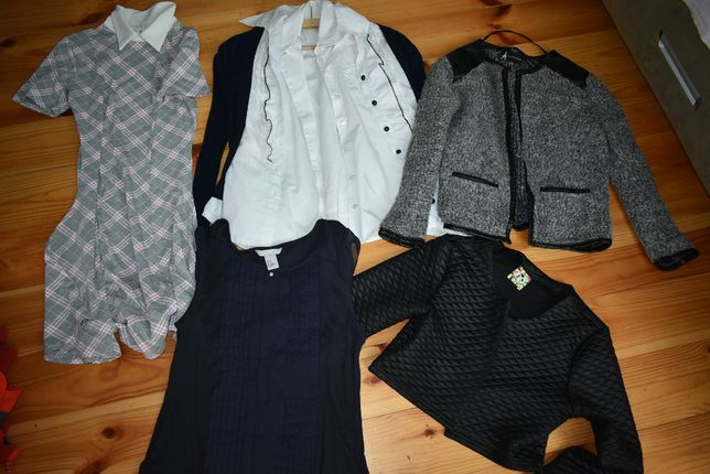 лот в школу платье ,кофта, рубашки.кардиган на 152-164