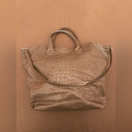 Skórzana torba MANGO rozmiar XL