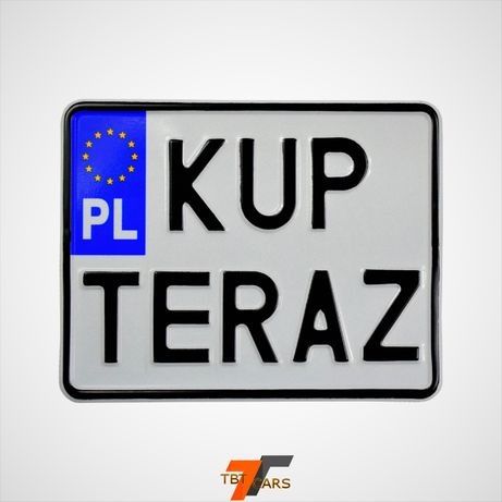 Polskie tablice rejestracyjne motocykl 19x15 cm