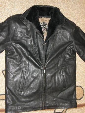 Куртка кожаная большого размера