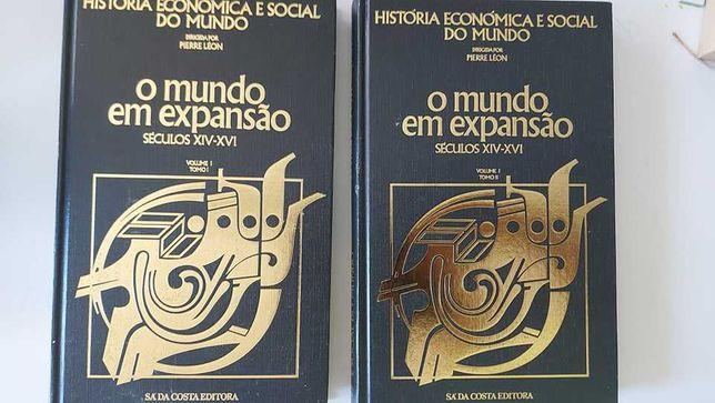 História Económica e Social do Mundo, PIERRE LÉON ( vol. I, tomoI,II)