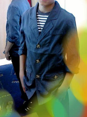 Пиджак на мальчика Cool Club в полоску 152см