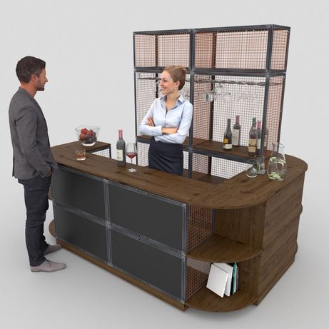 Bar loft industrial barek kuchenny