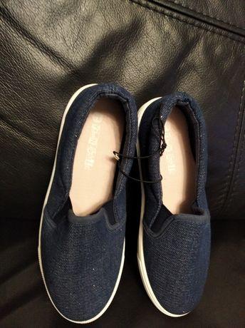 Buty kapcie brokatowe dla dziewczynki rozm. 34