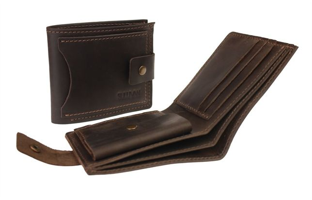Кожаный мужской кошелёк портмоне ручная работа натуральная кожа