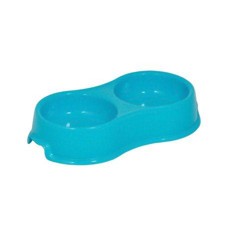 Miska plastikowa podw. Happet 2x0.16l niebieska