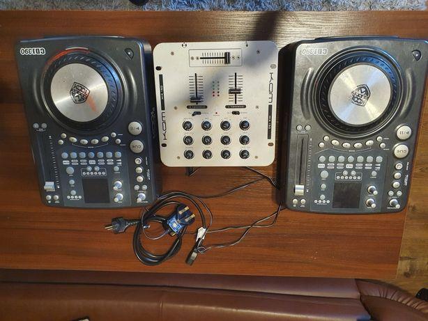 Konsola DJ'ska 2 x KOOL SOUND CDJ 390 + Mixer KAM MIX 150