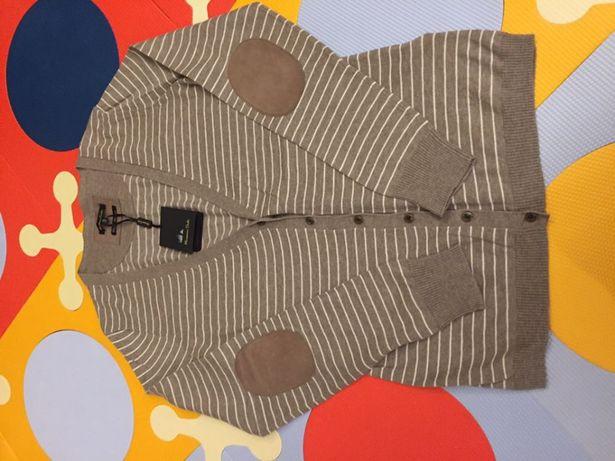 Sweter Massimo Dutti nowy bawełna kaszmir kolor brązowy rozmiar M