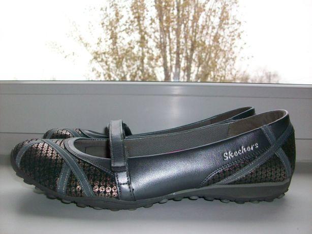 Туфли-мокасины женские натуральная кожа skechers р.40