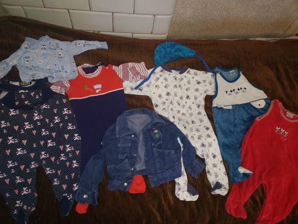 Одяг для хлопчика 0-6 місяців.