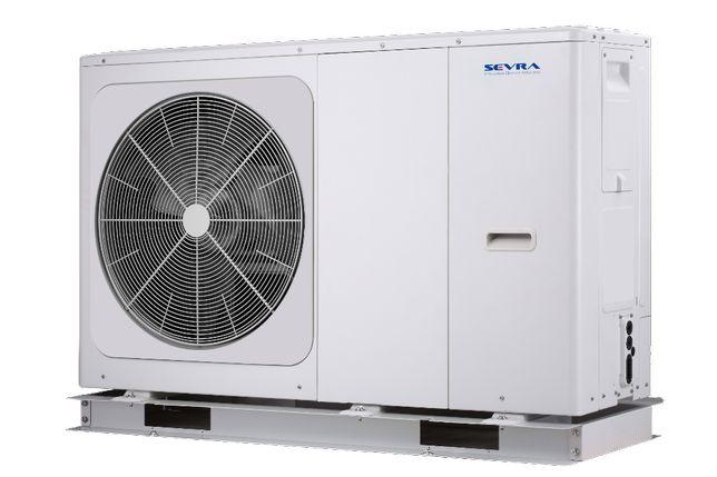 Pompa ciepła SEVRA Monoblok z COP aż do 5.15 R32 8,4KW do 160m2