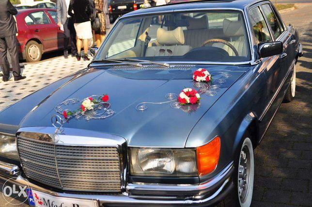 Samochód retro do ślubu, Auto na wesele, Zabytkowy Mercedes S class