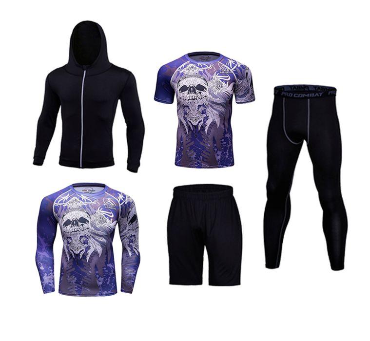 Компрессионная одежна 5 в 1 Cody Lundin. Рашгард, леггинсы, футболка.