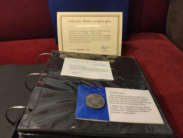 Emissões Filatélicas de Portugal Sobrescrito Medalha 1º Dia 1997